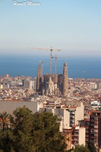 View of the Sagrada Familia from Park Guell