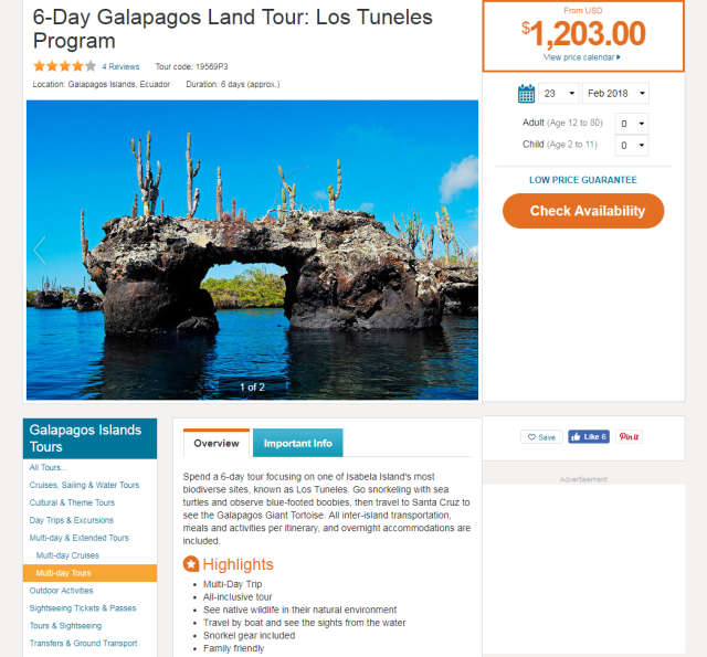 6-Day Galapagos Land Tour - Los Tuneles Program.png