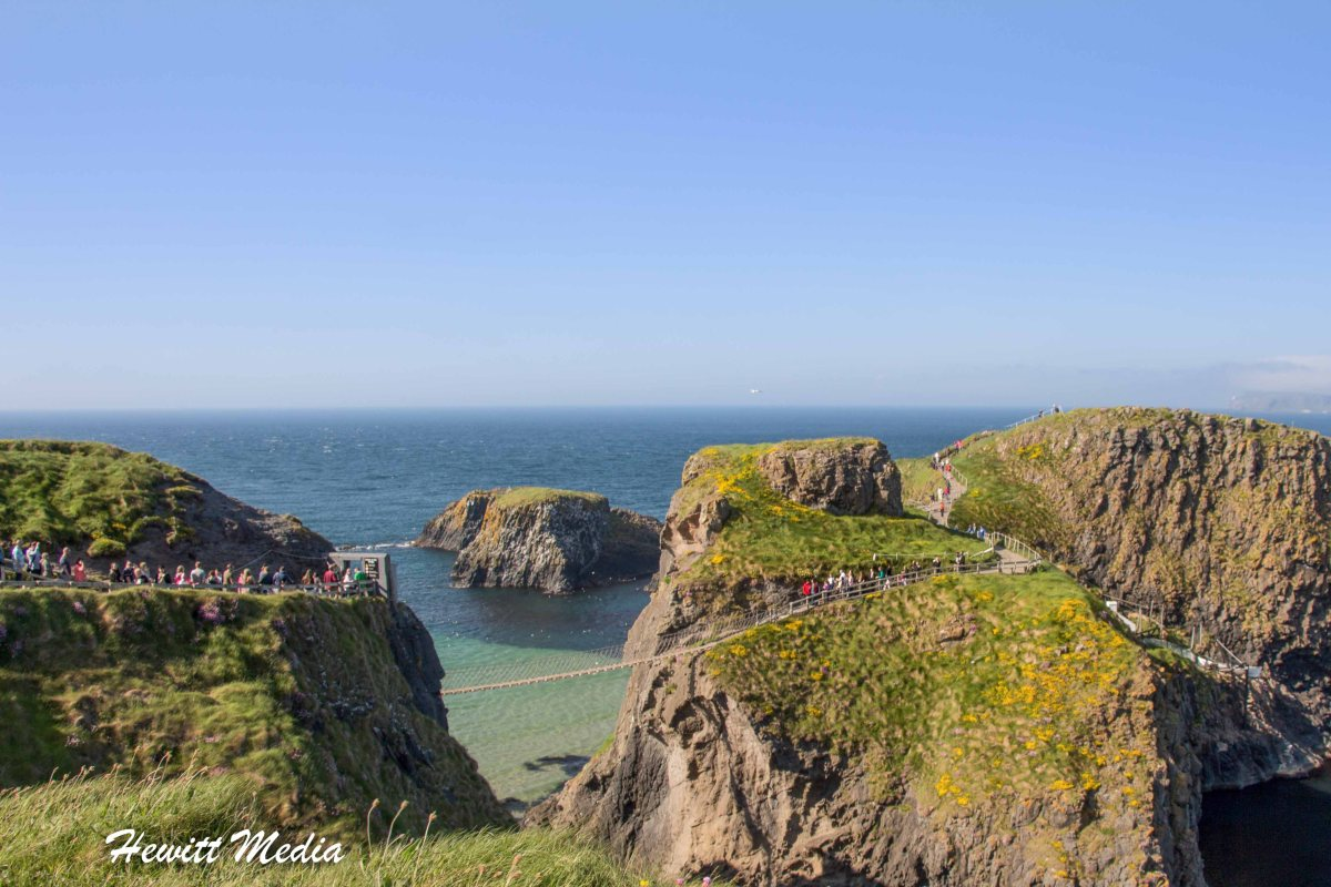 The Wonderful Carrick-a-Rede Brige in Northern Ireland