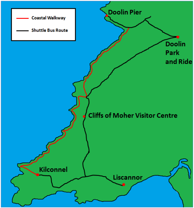 Cliffs of Moher Visitor Map.png