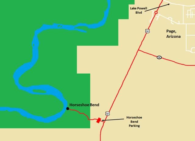 Horseshoe Bend Detail Map