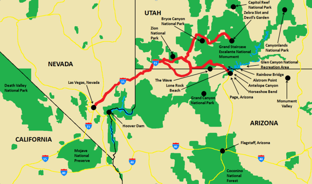 7 Day Southwest US Adventure Map.png